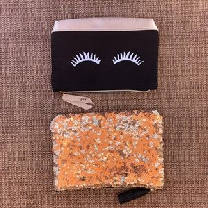 Ipsy cosmetic makeup bags lot of two